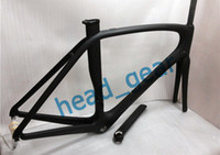 Wholesale New Arrival Black Full Carbon Fiber Frame Road Bicycle Frame Super Lightweight Carbon Bike Frame K Glossy Color Painted Bicycle Frame