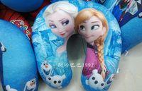 Wholesale 50pcs Elsa Anna foam particles toys U shaped pillow neck pillow nap pillow Seat Cushions c