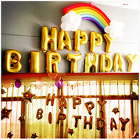 Wholesale 16 inch trumpet alphabetical balloons birthday party balloons decorated self sealing foil balloon foreign trade
