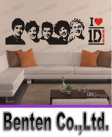 Removable one direction posters - LLFA5276 One Direction Sticker D Poster Bedroom Living Room Decoration Pictures Removable Wall Art