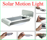 Wholesale Solar Powered Sensitive Motion Sensor led lamp LEDs Outdoor Detection auto Light