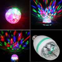 Wholesale New Strobe effect E27 W Colorful Rotating magic Disco Ball Light mini type LED stage light