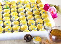 al por mayor yunnan cha tuo-Sabor de la hoja de Lotus de 100PC / Lot Té de China Yunnan Pu'er cocinado maduro Mini tazón de fuente de la torta del té de Puerh Puerh Pu erh Shu té Tuo Cha Pu er 500g