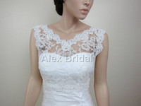 Wholesale V Neck Ivory Applique Lace Bolero Jacket Bridal Bolero Wedding Jacket Wedding Bolero Bridal Shrug Bridal Jacket