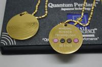 Wholesale gold scalar energy pendant golden Energy Scalar Pendant Stainless Steel Pendant