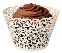 Wholesale Filigree Vine Cupcake Wrappers Wraps Collars Cups Wedding Birthday Baby Shower Favor