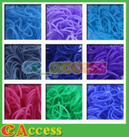 Link, Chain   90 color Rainbow Loom Refill Rubber Bands 600 Pcs & 24 Clips - Neon, Glow in the Dark