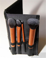 Wholesale High Quality Real techniques gold soft hair Professional Makeup powder blush brush set DHL
