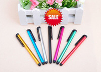 For Capacitive Screens Pens Universal DHL Fedex Free shipping 500 lot Universal Capacitive Stylus Touch Pen For iPad Samsung Galaxy Tablet PC Cellphone Multi Color