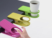 Wholesale Brand New School Office Kitchen Home Table Desk Drink Coffee Bottle Cup Holder Clip Drinklip Hanger