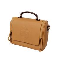 Wholesale S5Q Hot Women Lady s European Classic UK Crown Shoulder Bags PU Handbag AAABZZ