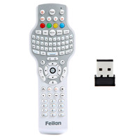 Wholesale 2 GHz Wireless Keyboard with Trackball Mouse Universal Remote Control for TV DVD Set top box C1495
