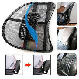 Wholesale Hot selling Black Mesh Lumbar Back Brace Support Cushion Cool for Office Home Car Seat Chair