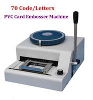 Wholesale Warranty New Manual letters Magnetic ID PVC Plastic Credit Card Embosser Machine PVC Card embossing machine