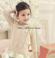 Spring / Autumn kids winter sweater - Children Sweater Pullover Kids Clothing Knitted Sweaters Child Long Sleeve Pullover Kid Wool Sweaters Fashion Casual Pullover Girl Clothes