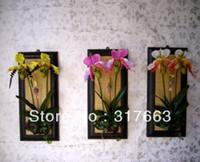 Wedding Decorative Flowers & Wreaths baihui art The simulation butterfly Lanou flower arranging creative home wall-decoration flowers decorate living rooms