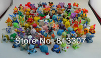 Wholesale 100 set different style set Pokemon Mini Cartoon Figure Set larger size