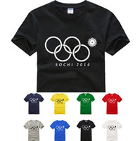 Women Polo Tops new 2014 fashion women clothes t-shirts Sochi Olympic Rings Opening Ceremony Funny Shirt Russia Jersey S XL MTS258