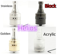 Replaceable Metal. Acrylic King, nemesis, chiyou, hades ect 2014 newest helio v3 vaporizer rebuildable atomizer gold stainless steel black acrylic helios DIY tank cartomizer clearomizer for mech mods