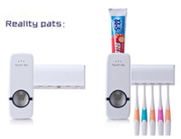 Wholesale New Automatic Toothpaste Dispenser Toothbrush Holder sets toothbrush Family sets White