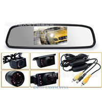 Xin fire === Shenzhen hot-Car Rear View Kit: wireless infrared reverse car camera + 4.3 inches rearview mirror LCD monitor