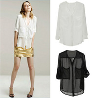 Men Polo Long Sleeve 2014 new Fashion Women's Summer full-sleeve V-neck 100% Chiffon Modal T-shirt Basic Tee t shirts sex Tops Shirt 1pcs lot