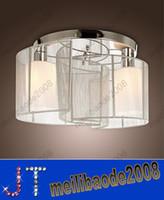 Wholesale Modern Elegant Lights Fabric Silver Chandelier Living Room Pendant Lamps Ceiling light Dia350 H250mm for living dinning room HSA189