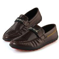 Wholesale 2014 New Fashion Crocodile Texture Casual sneakers Business Men Flats Boat Shoes Doug Men Shoes Plus Size XMR151