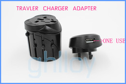 Universal Travel Adapter with USB world charger with UK US AU EU adapter 10PC\LOT DHL FREE