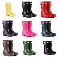 Knight Boots wellies - Women Fashion Short Rain Boots Waterproof Women Wellies Rainboots Rainboots Water Shoes Colors TS25