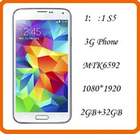 Wholesale 1 S5 Cellphone Android Cell Phone MTK6589 GB RAM GB ROM With Inch IPS Screen Air Gesture Eye Control DHL