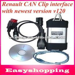 2014 la versión nuevamente Renault PUEDE acortar la herramienta de diagnóstico del interfaz V120 con el Renault de múltiples idiomas puede acortar por el envío libre de DHL desde clips de renault proveedores