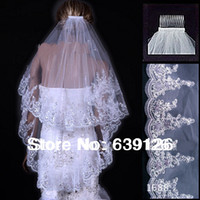 New 2014 Wedding Accessories A Bridal Veil Two Layers White ...