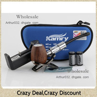 Single As the pic  Newest Kamry E-Pipe Mod Wooden K1000 Battery Body Mod E Cig Tanks Atomizer Huge Vapor EPipe K1000 Mechanical Mod E Cigarette Kit