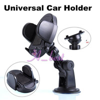 Wholesale 360 Rotating Universal Windscreen Car Mount Holder Adjustable Width Windshield Cradle For Samsung Galaxy S5 i9600 HTC one M8 iphone S