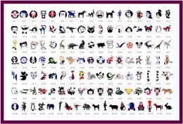 Wholesale 120 designs Airbrush tattoo Stencil Book Airbrush stencils Template Book