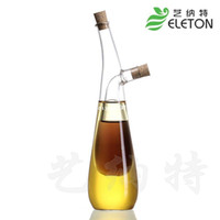 Wholesale Kitchen supplies oil and vinegar bottle oiler soy sauce and vinegar cruet glass bottle sealed leak proof castoffs
