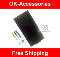 Wholesale 1PC LCD Display Touch Screen Free Tools For Sony Xperia Z Ultra XL39h XL39 C6802 C6806 C683 C6843 C6833