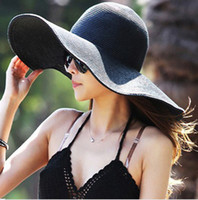Mix color church hats fashion - New Style Fashion Women s Ladies Foldable Wide Large Brim Floppy Summer Beach Hat Sun Straw Hat Cap