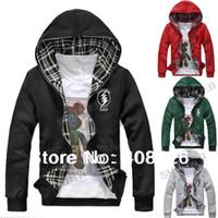 Wholesale 2014 Sexy Slim Fit Top Designed Men s Hoodies s s outwear Double Side Wear Color M L XL XXL