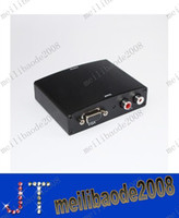 Wholesale High Quality VGA Audio to HDMI HD HDTV Video Converter Box P With Retail Package MYY1173