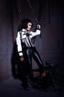 gothic clothing - RQ BL Gothic punk Clothing leather underbust Gothic corset