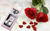 Wholesale LOVE Tea Coffee Drinking Spoon Teaspoon Bridal Shower Wedding Party Favor Lover Valentine s Accessories Gift