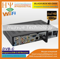 Receivers cable box digital - Digital Singapore Cable tv receiver Black box hd c600 for starhub channels set top box