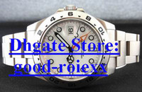 Wholesale New Products Mechanical Full Steel Auto Date Watch Men White Dial II Lock Great Watches Men s Gmt Sport Wristwatches