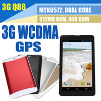 Wholesale 7 Inch G Dual Core Dual Sim Android Phablet unlocked Phone mtk6572 Bluetooth Tablet Pc Calling GSM Ghz Wifi Dual Camera WCDMA