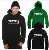 Wholesale new sale thrasher letter Printed Pullover Unisex Adult Size Hoodie Sweatshirt with hood thrasher hoodies clothing colo