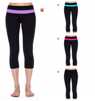 Wholesale Hottest Lululemon Groove Wunder under crop Yoga Pants For Women Cheap Legging Soft Cropped Trousers Tight Fit