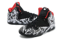 Basketball basketball construction - Famous Basketball Players Sneaker Lebron XI Athletic Shoes Customize Colorway Graffiti Black Hyperposite Construction Sports Shoes US7
