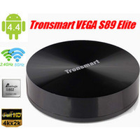 Android 4.4 OS Android TV BOX Tronsmart Vega Elite S89 Quad Core Amlogic S802 2.0 GHz DDR3 2G 8G Bluetooth 2,4 G wifi smart tv 4K*2K HDMI